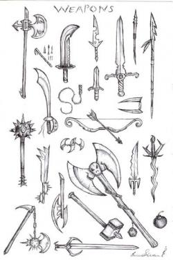 Drawn weapon medieval