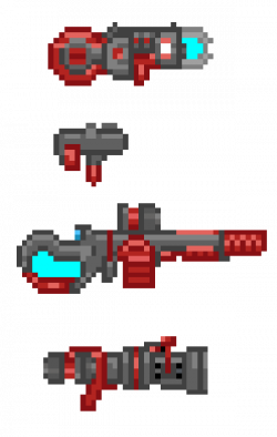 Drawn weapon sprite
