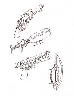 Drawn weapon star wars