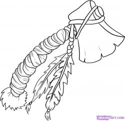 Drawn weapon tomahawk