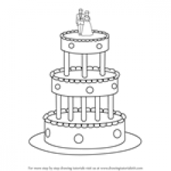 Drawn wedding cake