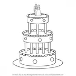 Drawn wedding cake