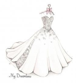 Drawn bride royal dress