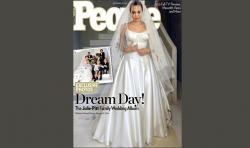 Drawn wedding dress angelina jolie