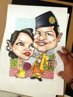 Drawn wedding malay