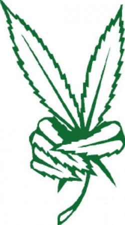 Drawn cannabis graphic
