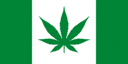Drawn weed canada flag