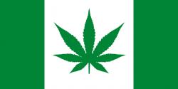 Drawn weed canada flag