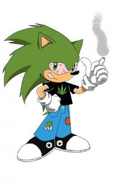 Drawn weed cartoon character
