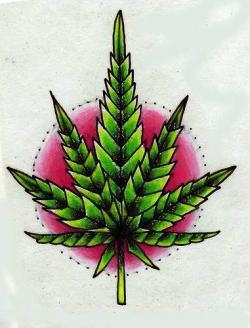 Drawn weed creative