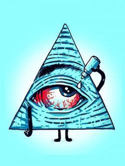 Drawn weed illuminati