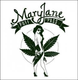 Drawn weed mary jane
