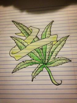 Drawn weed pencil