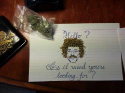 Drawn cannabis stoned