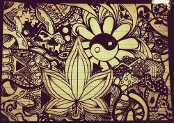 Drawn cannabis doodle