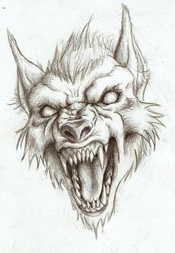 Drawn wolfman