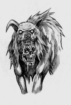 Drawn werewolf badass