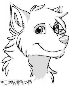 Drawn werewolf cartoon