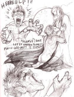 Drawn wolfman comic