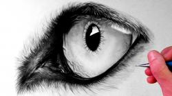 Drawn werewolf eye