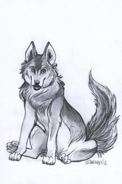 Drawn werewolf fluffy