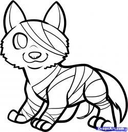 Drawn werewolf halloween