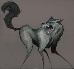 Drawn wolfman mad wolf