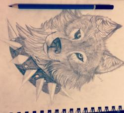 Drawn werewolf peaceful