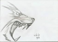 Drawn werewolf rage