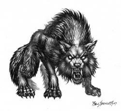 Drawn werewolf rpg