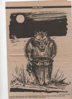 Drawn wolfman maine