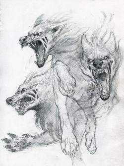 Drawn wolfman artwork