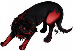 Drawn werewolf transparent