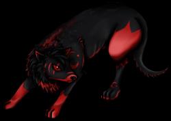 Drawn werewolf transparent