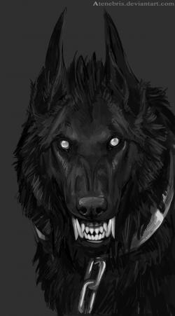 Drawn wolfman demon