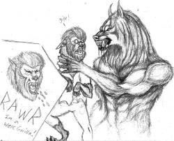 Drawn werewolf van helsing