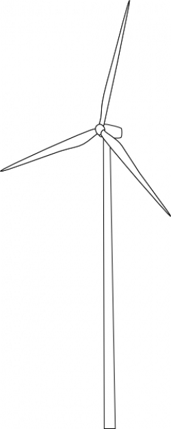 Wind Turbine clipart transparent