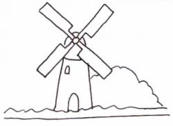 Drawn windmill easy