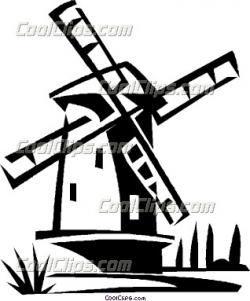 Drawn windmill holland windmill
