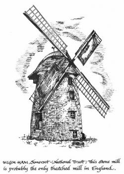 Drawn windmill mill
