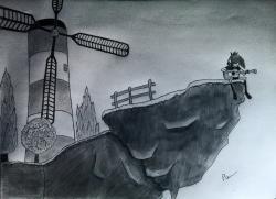 Drawn windmill noodle