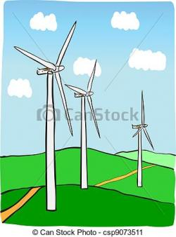 Wind Turbine clipart power plant