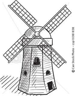 Drawn windmill simple