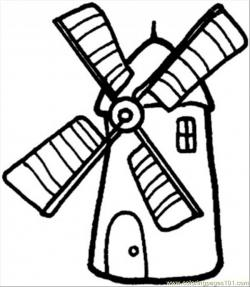 Windmill clipart structure