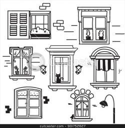 Drawn windows