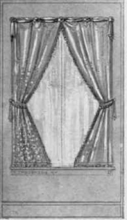 Drawn windows curtain