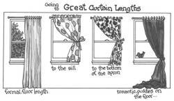 Drawn curtain sill length