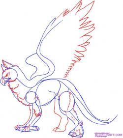 Drawn griffon gryphon