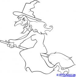 Drawn witch