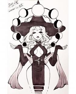 Drawn witchcraft art